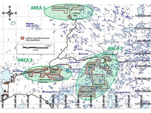 figure 1 project areas under new exploration agreement with